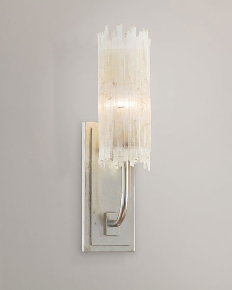 John-Richard Collection Selenite Single Wall Sconce