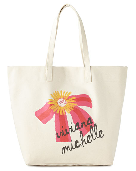 Sweet Pink Bow with Daisy Big Bag Tote