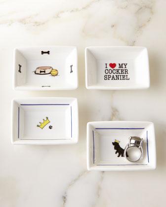 I Love My Cocker Mini Trinket Tray Set