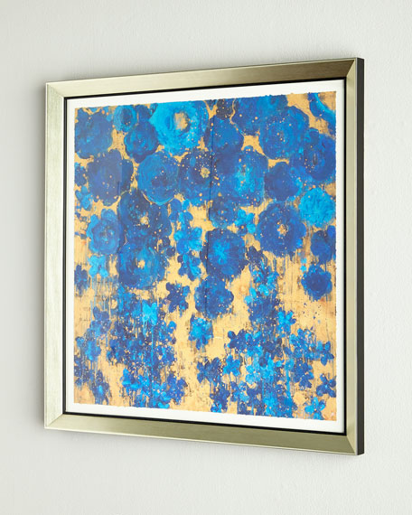 """Floral #8"" Abstract Giclee on Paper Wall Art"