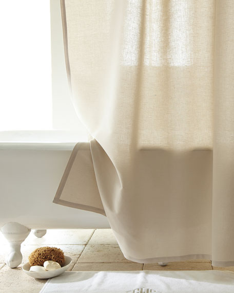 Superb Linen/Cotton Shower Curtain