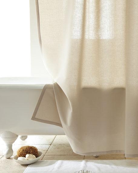 Linen Cotton Shower Curtain