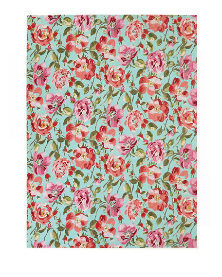 Rose Parade Rug, 4' x 6'