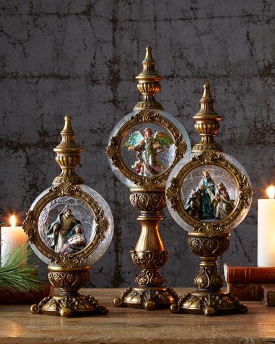 Nativity Finials, 3-Piece Set