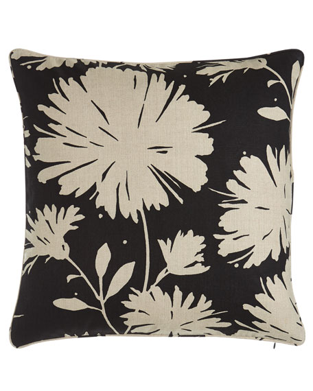 "Daisyfield Floral Pillow, 20""Sq."