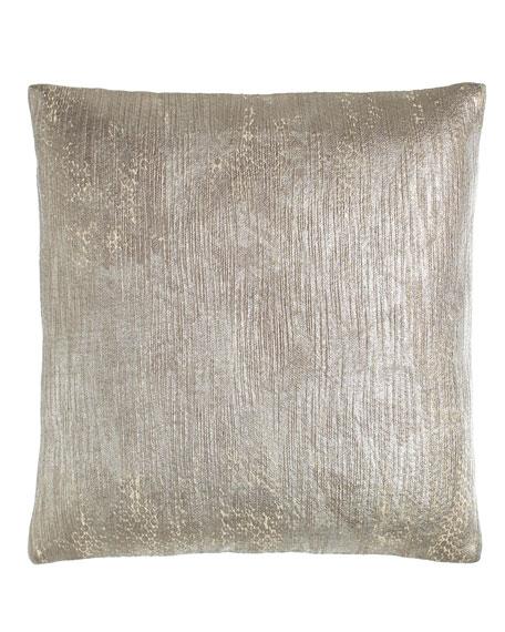 Donna Karan Home Fuse Metallic-Print Pillow, 16