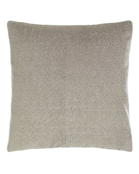 Donna Karan Home Fuse Embroidered Velvet Pillow, 18
