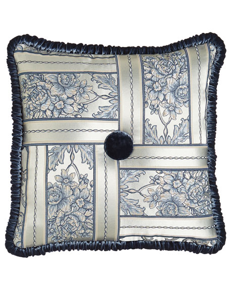 "Selena Pieced Pillow, 20""Sq."