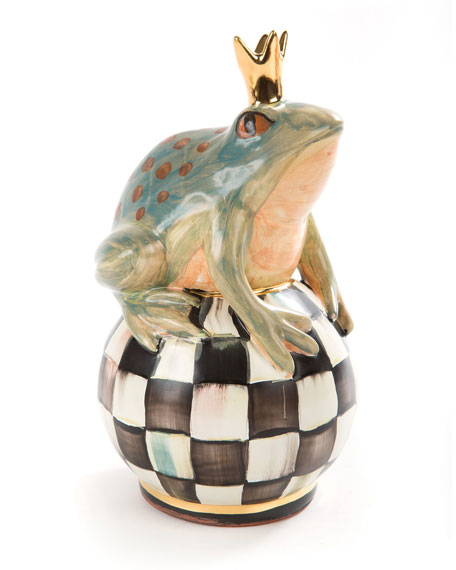 MacKenzie-Childs Frog on Courtly Check Ball