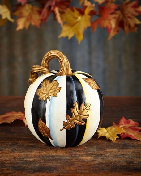 Falling Leaves Small Pumpkin