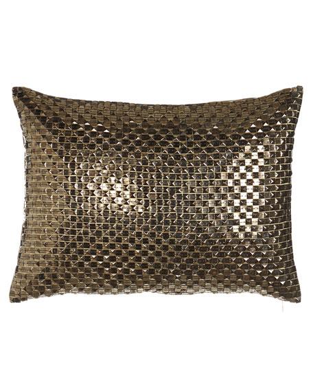 """Naita Studded Pillow, 14"""" x 20"""""""