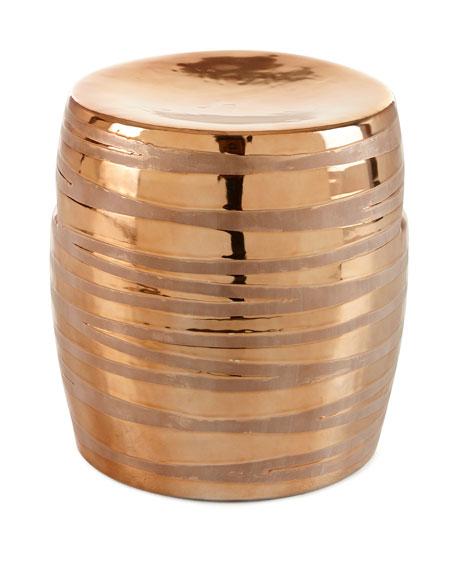 Incroyable Copper Metallic Garden Stool