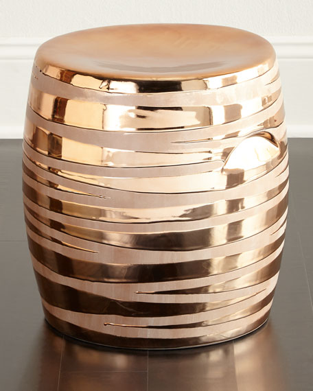 Copper Metallic Garden Stool