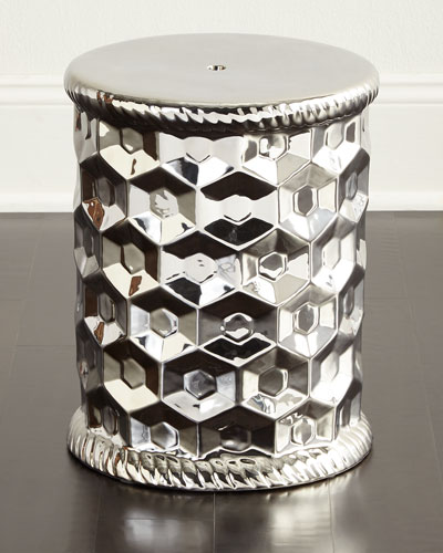 Silver Honeycomb Stool