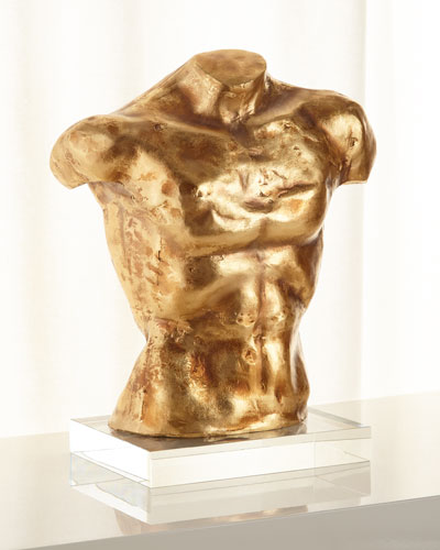 Bronze Torso Sculpture