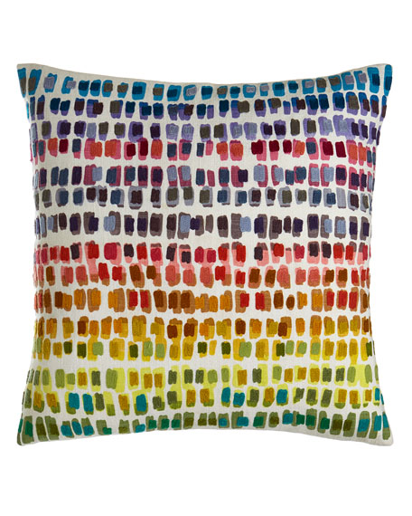 "Paint Chip Embroidered Pillow, 20""Sq."