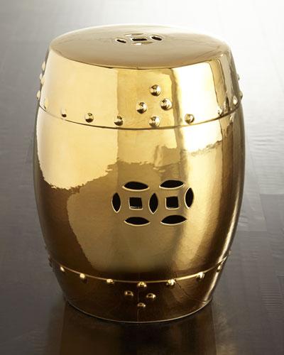 Golden Shine Garden Stool