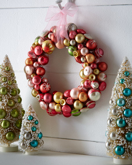 Glass Ball Christmas Wreath