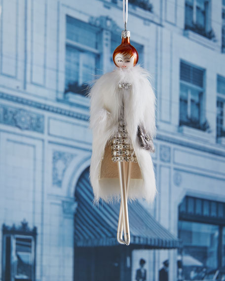 Jill with White Fur Coat Christmas Ornament