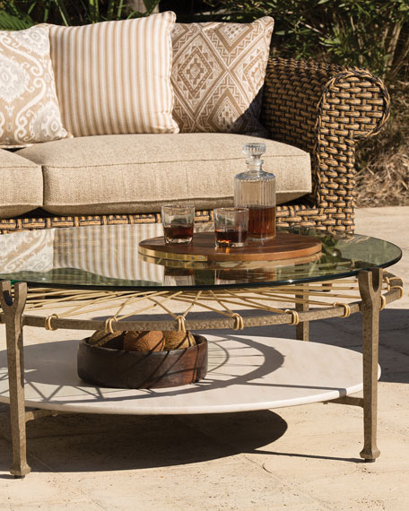 Hemingway Outdoor Round Glass Coffee Table