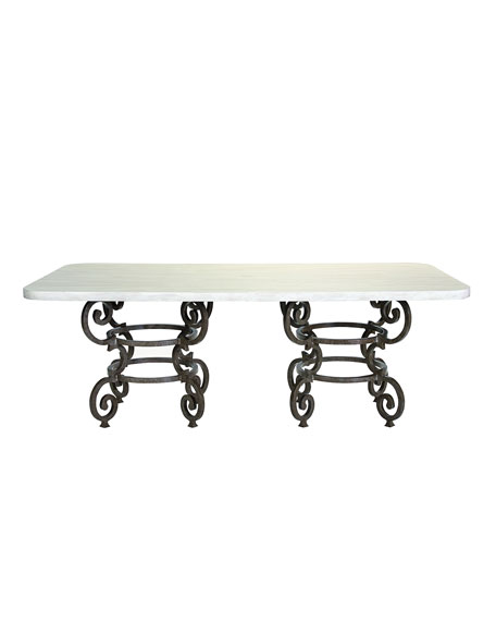 Hemingway Outdoor Florentine Rectangular Dining Table