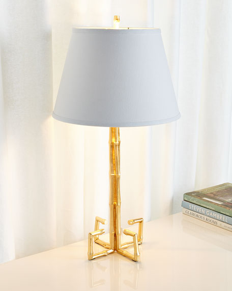 Faux-Bamboo Table Lamp
