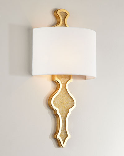 Golden Fleck Glass Sconce