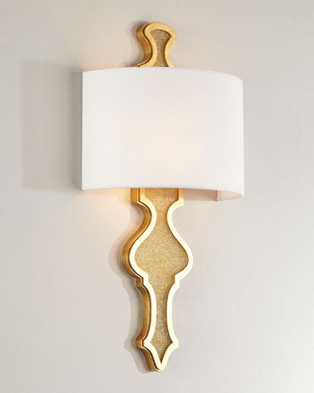 Golden Fleck Glass Sconce