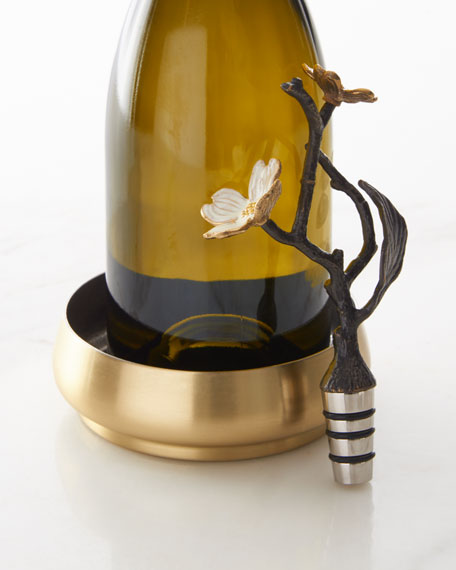 Dogwood Wine Coaster & Bottle Stopper
