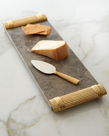 Wheat Cheese Board with Spreader