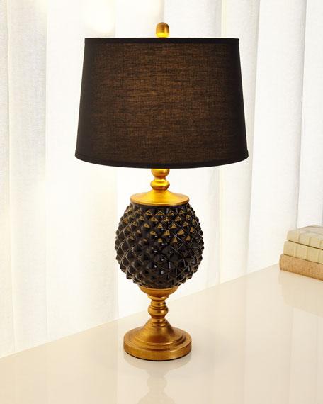 Black Pineapple Lamp