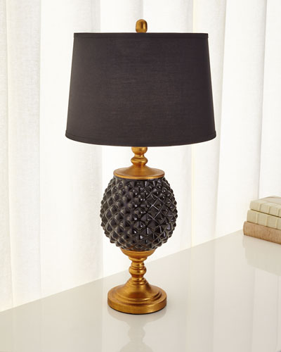Black Pineapple Lamp