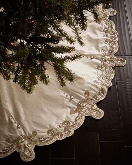 Kim Seybert Arabesque Christmas Tree Skirt