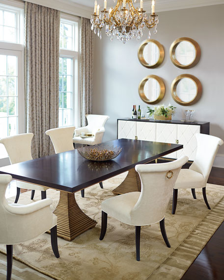 Gentil Paltrow Double Pedestal Table