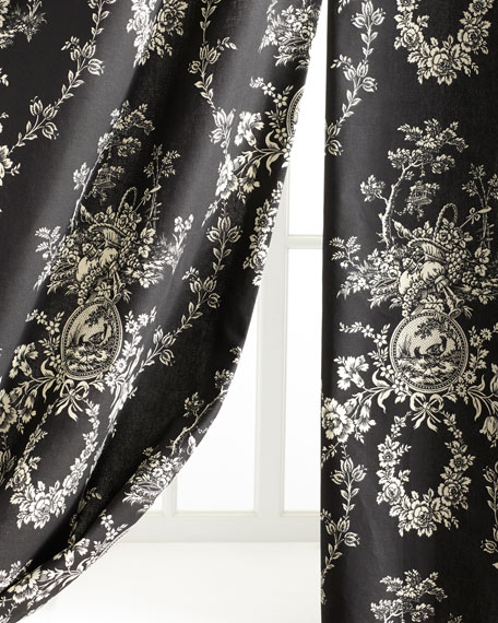 """Two """"French Toile"""" Curtains"""