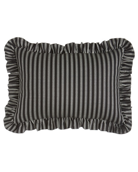 """French Toile"" Striped Pillow, 13"" x 18"""