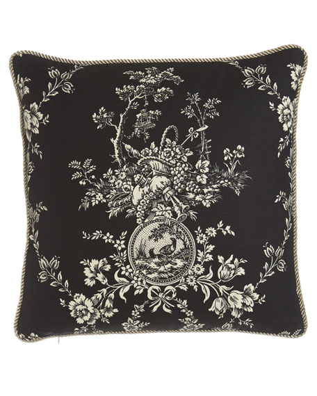"""French Toile"" Pillow, 20""Sq."