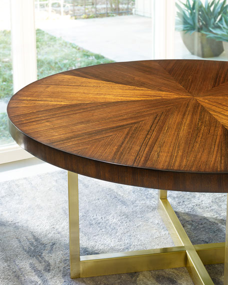 hooker dining table horizon line round