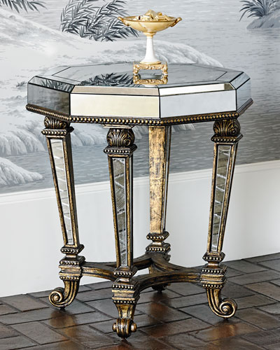 Sergio Mirrored Accent Table