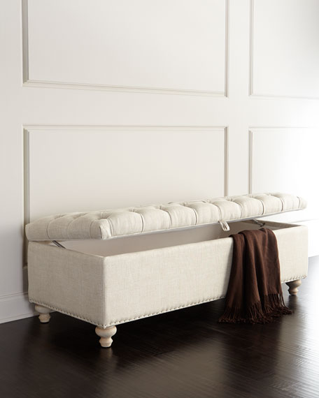 Genial Marian Tufted Storage Bench