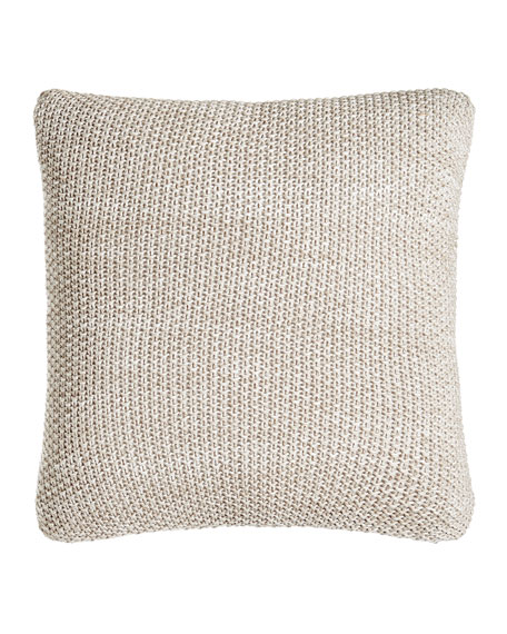 "Watercolor Knit Pillow, 18""Sq."