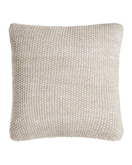 "Watercolor Knit Pillow, 18""Sq."
