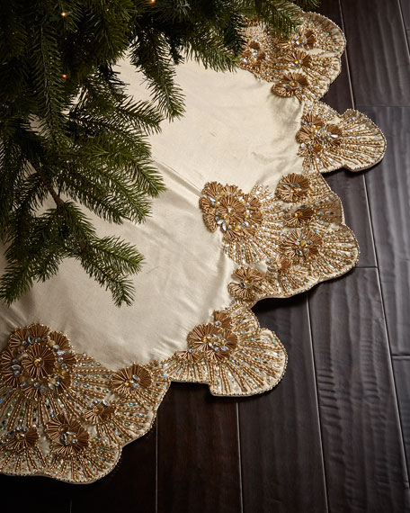 Kim Seybert Trevi Christmas Tree Skirt