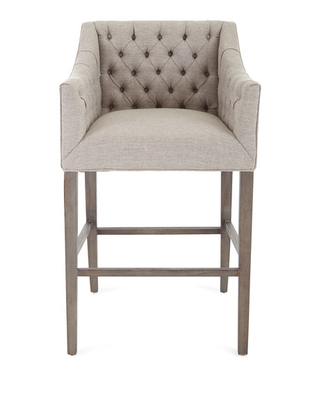 Pepper Tufted Barstool