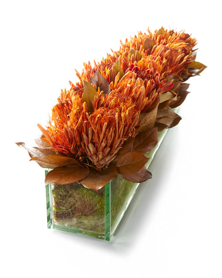 Blazing Protea Faux-Floral Arrangement