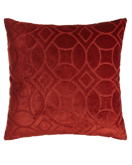 Modern Twist Orange Pillow