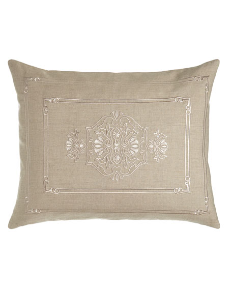 King Casablanca Sham with Center Motif