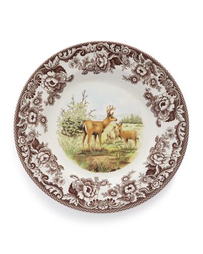 Woodland Deer Dinner Plates  Set of 4