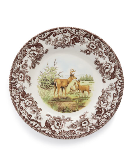 Woodland Deer Dinner Plates, Set of 4