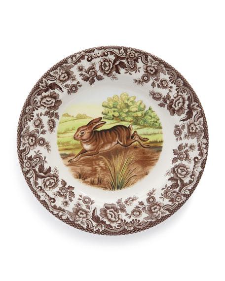 Woodland Rabbit Salad Plates, Set of 4